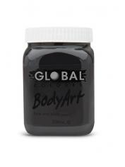 Black Face Paint 200ml - Global Face Paint