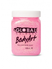 Pink Glitter Face Paint 200ml - Global Face Paint