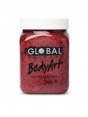 Red Glitter Face Paint 200ml - Global Face Paint
