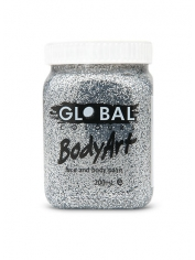 Silver Glitter Face Paint 200ml - Global Face Paint