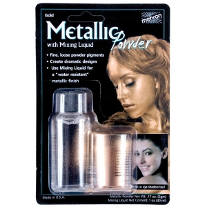 Metallic Gold Powder with Mixing Liquid