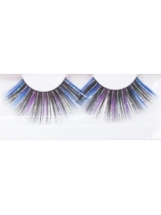Blue Black Silver Shining - Eyelashes