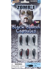 Zombie Black Blood Capsules - Halloween Make Up