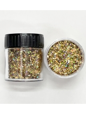 Holographic Glitter Medium Gold - Face Paint and Glitter