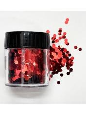 Hexagonal Glitter Red - Face Paint and Glitter