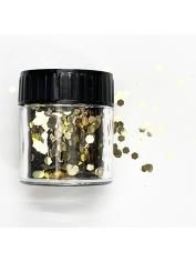 Hexagonal Glitter Gold - Face Paint and Glitter