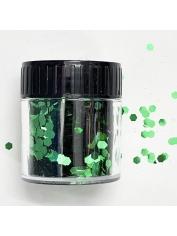 Hexagonal Glitter Green - Face Paint and Glitter