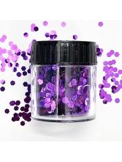 Hexagonal Glitter Purple - Face Paint and Glitter