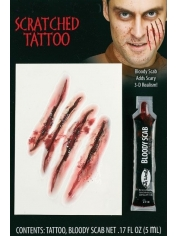 Scratched Tattoo - Halloween Makeup