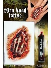 Torn Hand Tattoo - Halloween Makeup