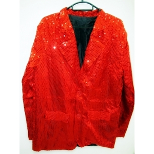 Red Sequin Jacket - Mens Costume