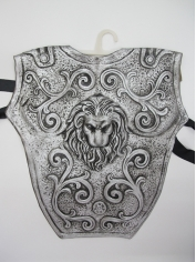 Roman Chest Plate Latex Silver - Mens Costume