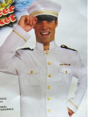 Navy Officer Jacket - Mens Costume