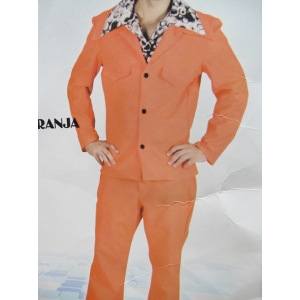 70s Orange Suit - Mens Costume