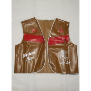 Mens Brown Cowboy Vest - Mens Costume