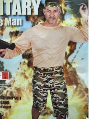 Army Muscle Man Jumpsuit - Mens Costume