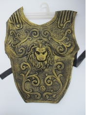Roman Chest Plate Latex Gold - Mens Costume