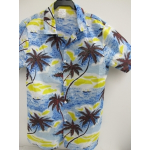 Men's Hawaiian Shirt Blue - Men's Costumes