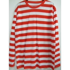 Red and White Striped Shirt - Mens Costumes