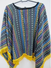 Mexican Poncho Blue - Mens Costumes