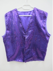Purple Sequin Vest - Men's Costumes