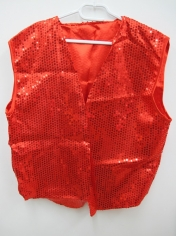 Red Sequin Vest - Men's Costumes