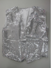 Silver Sequin Vest - Mens Costumes