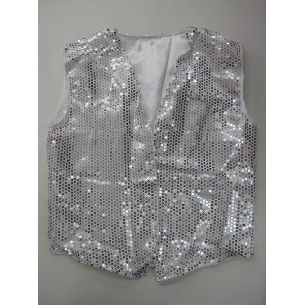 Men's silver sparkling vest BCQcoqCDNX