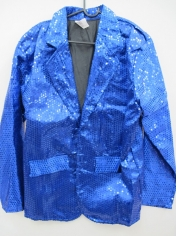 Blue Sequin Jacket - Mens Costumes