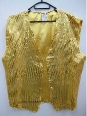 Gold Sequin Vest - Mens Costumes