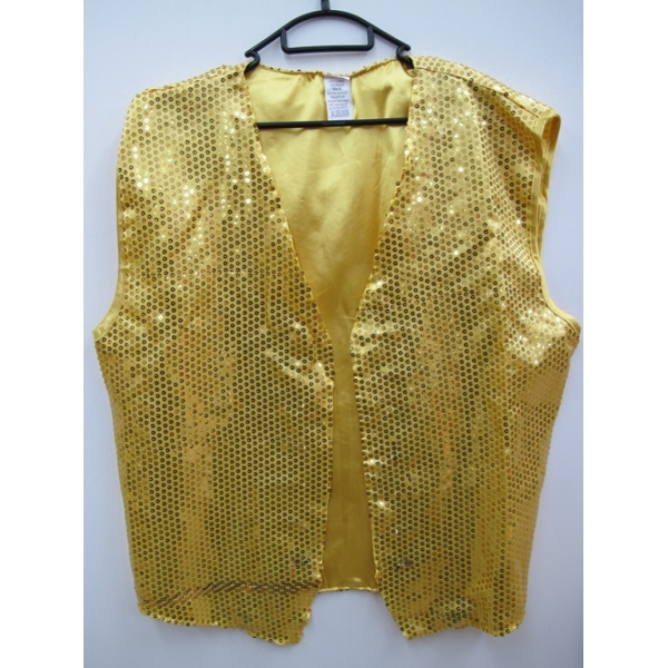 sc 1 st  Costume Shop Sydney & Gold Sequin Vest - Mens Costumes