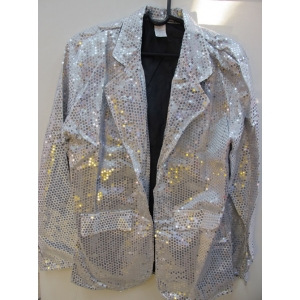 Silver Sequin Jacket - Mens Costumes