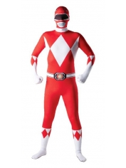 RED 2ND SKIN POWER RANGER - Adult Men's Costumes