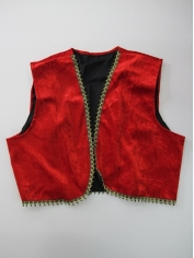 Red Velvet Genie Vest - Bollywood Costumes