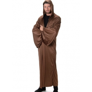 Brown Hooded Robe - Mens Costumes