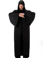 Black Hooded Robe - Mens Costumes