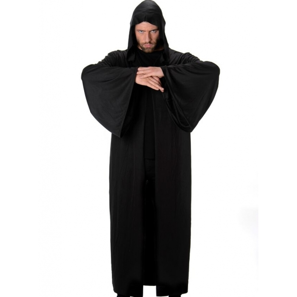Black Hooded Robe Mens Costumes