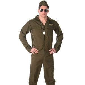 Aviator Jumpsuit - Mens Costumes