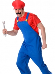 Red Plumber Guy - Mens Costumes