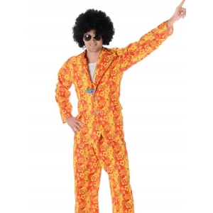 Orange Groovy Suit - Men 60's 70's Costumes