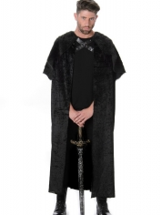 Black Fur Cape - Mens Costumes