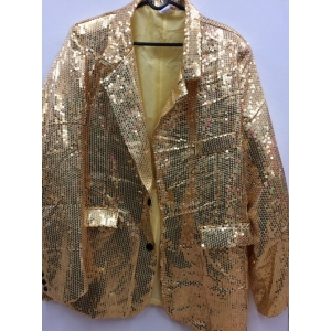 Gold Sequin Jacket - Mens Costumes
