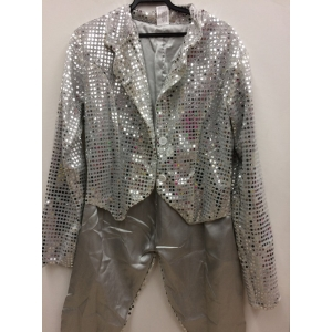 Silver Sequin tailcoat - Adult Costume