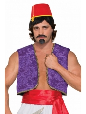 Purple Velvet Genie Vest - Bollywood Costumes