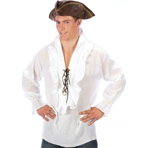White Pirate Shirt - Mens Costume
