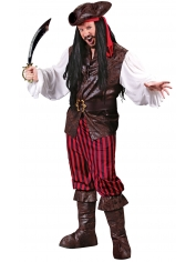 Deluxe Pirate Captain - Mens Costumes
