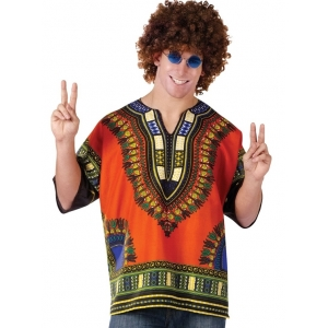 Mens Large Hippie Shirt - Mens Costume