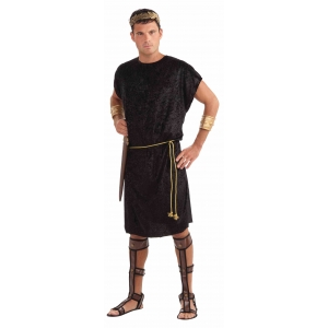 Black Tunic with Belt - Mens Costumes