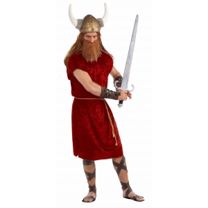 Red Tunic with Belt - Mens Costumes