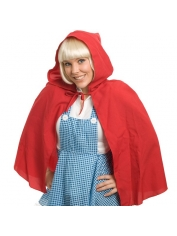 Red Hooded Cape - Womens Costumes